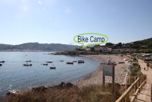 Bucht am Campingplatz