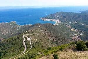Fernsicht auf das Meer in Spanien