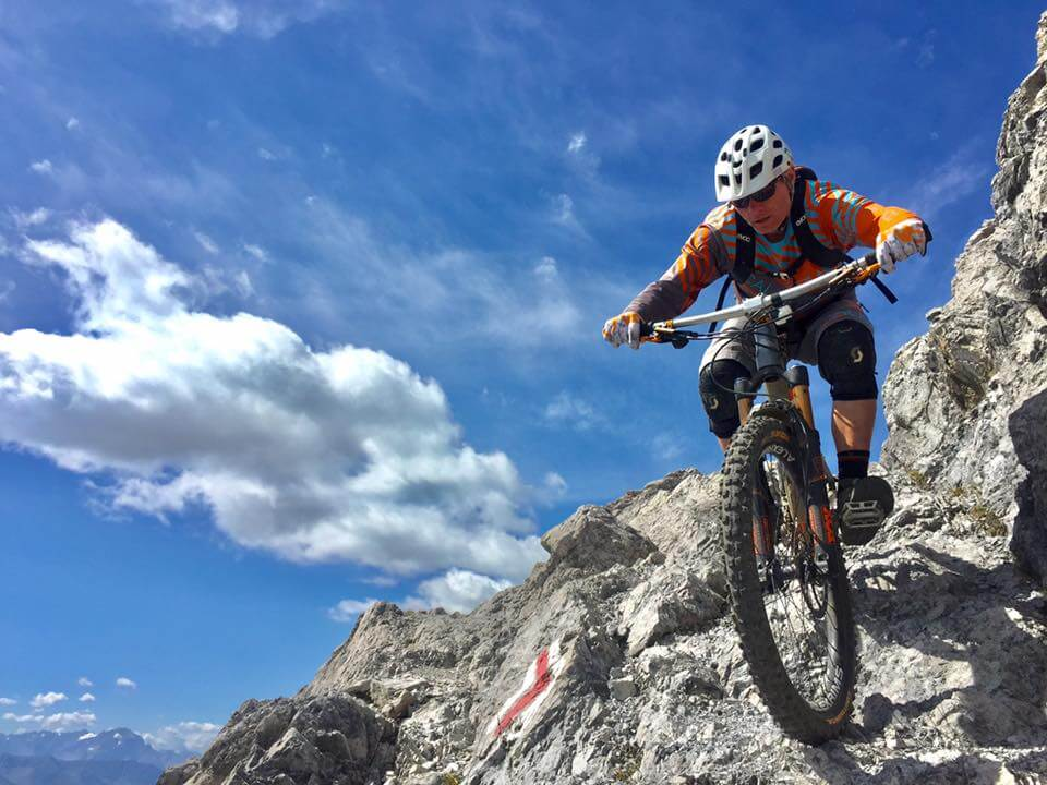Biker im Hochgebirge