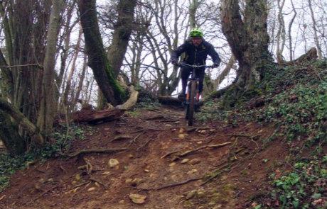 Belchenradler, der Mountainbiker auf Trail