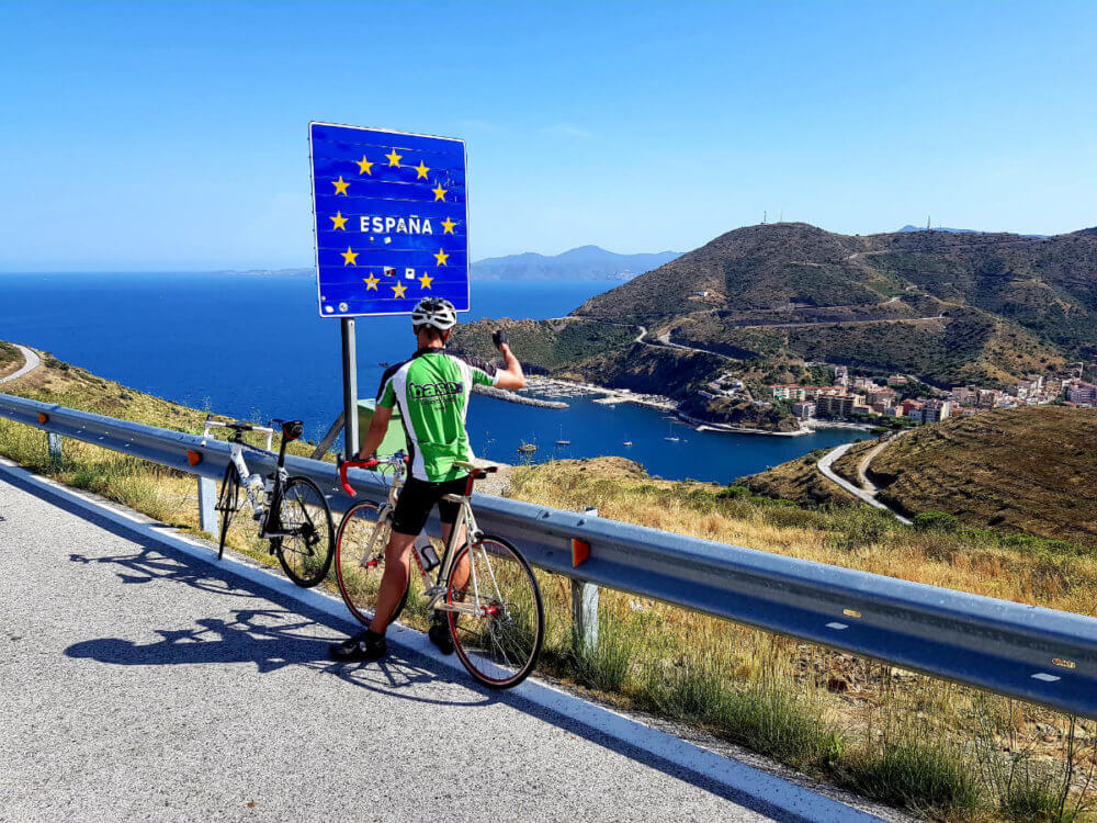 Roadbike trip to the boarder between France and Spain