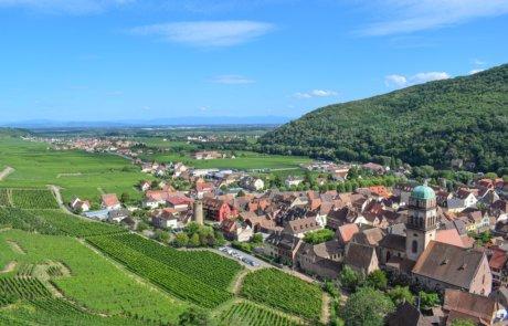 Blick auf Kaysersberg und das Elsass