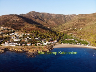 Lage der Bike Camp Unterkunft