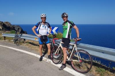 Rennradfahren mit Meerblick