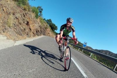 Rennradfahrer in Katalonien