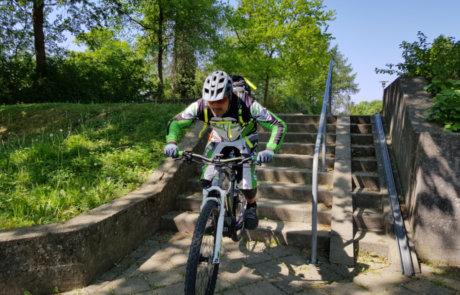 E-Bike Treppen Fahren