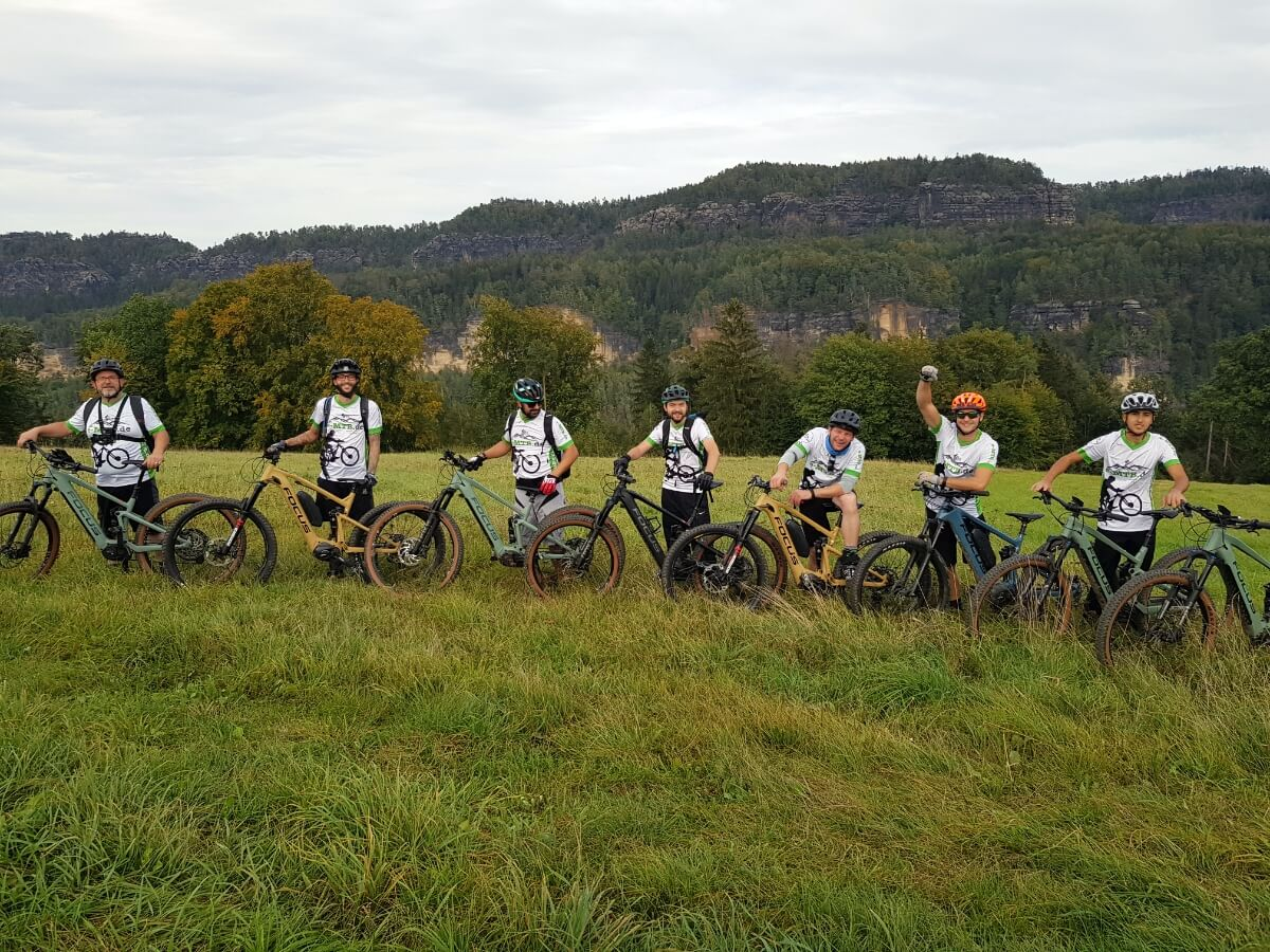 E-MTB Tour im Elbsandsteingebirge