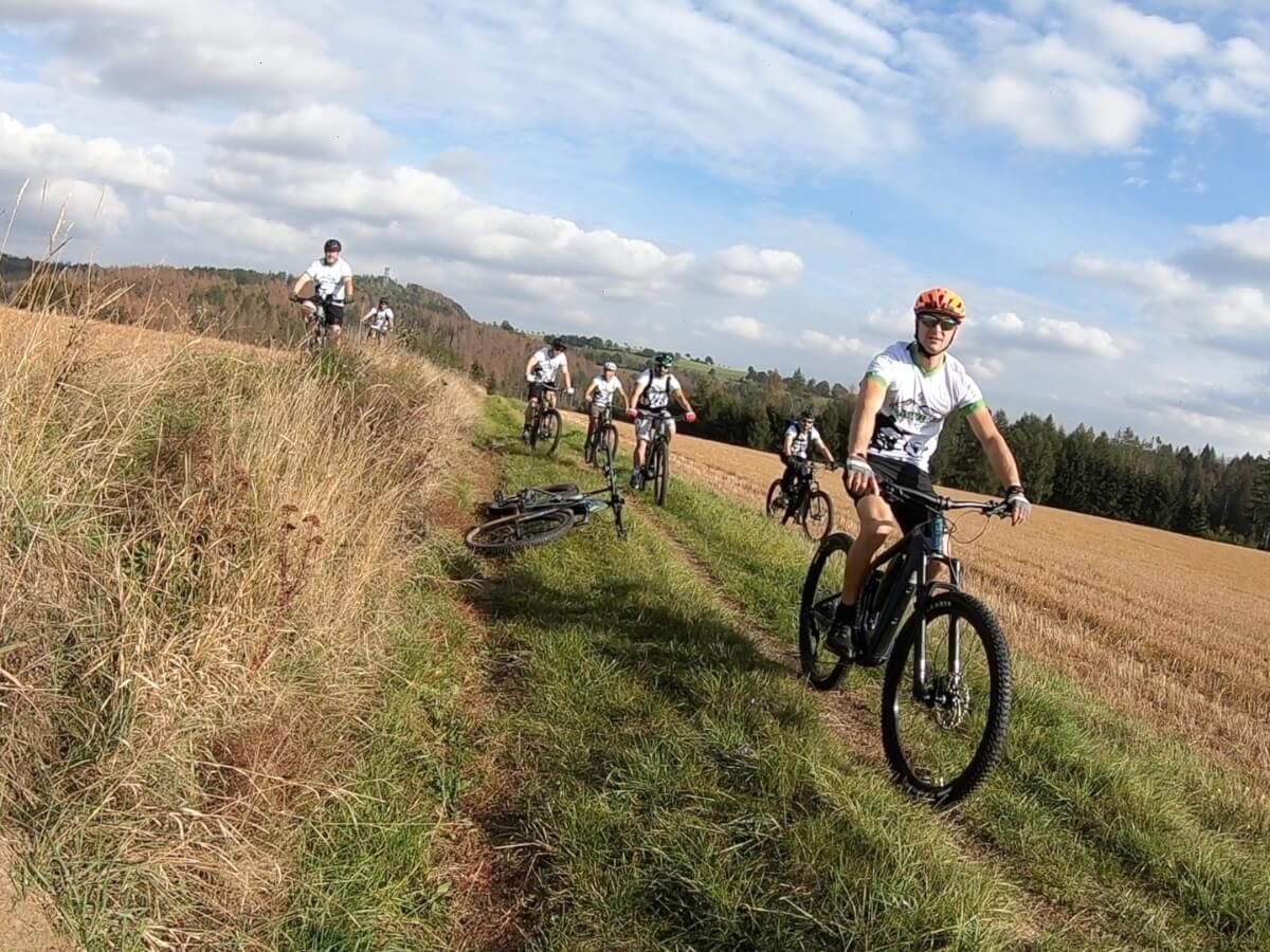 E-Mountainbikefahren in der Sächsischen Schweiz
