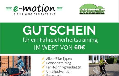 60 € Gutschein für ein Fahrsicherheitstraining